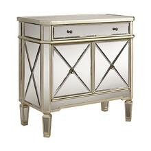 Mirrored 1-Drawer, 2-Door Console