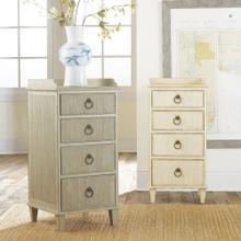 Four Drawer Gustavian Bedside Cabinet-Grey