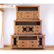 View Product - 62 TV Stand w/4 drawers & 2 glass doors