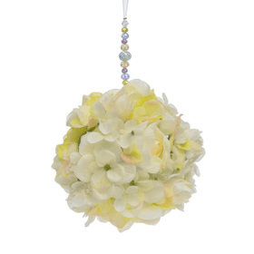 Ivory Hydrangea Floral Kissing Ball