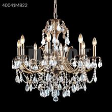 Monaco Cast Brass Crystal Chandelier