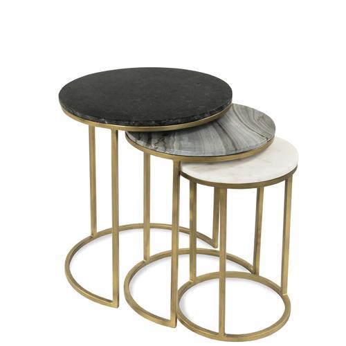 Nesting Side Table - Brushed Brass Finish
