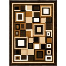 GL-26 CHOCOLATE Contemporary Rectangle Rug
