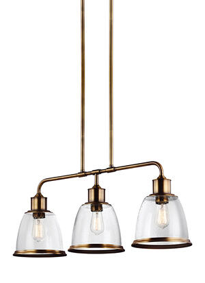 Hobson 3 - Light Island Aged Brass Product Image