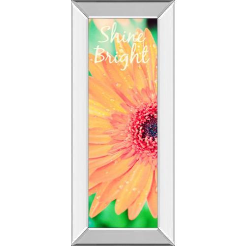 "Classy Art - ""Shine Bright Daisy"" By Susan Bryant Mirror Framed Print Wall Art"