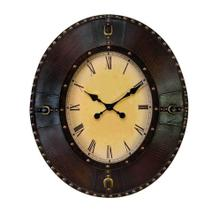 Oval Leather Clock
