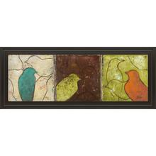 """Lovely Birds Il"" By Patricia Pinto Framed Print Wall Art"
