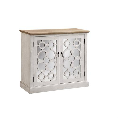 Boylston 2-door Cabinet In Whitewash With Natural Top