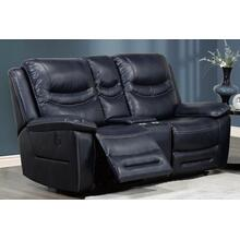 Seattle Power Recliner Loveseat Blue