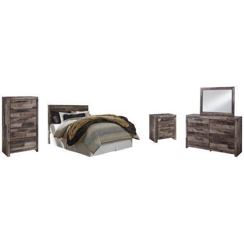 Product Image - Queen/full Panel Headboard With Mirrored Dresser, Chest and Nightstand