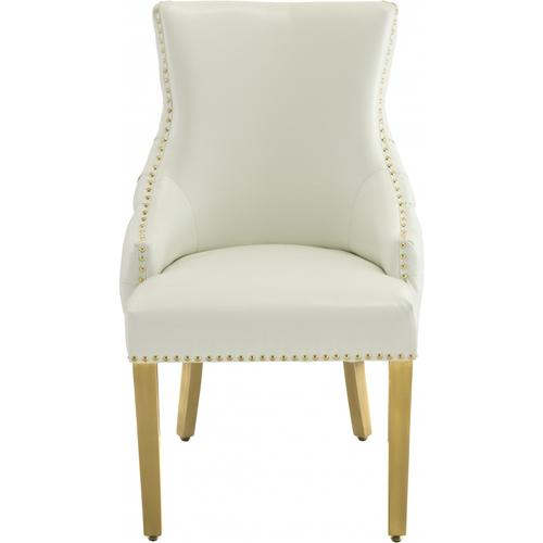 """Tuft Faux Leather Dining Chair - 24"""" W x 25.5"""" D x 37.5"""" H"""