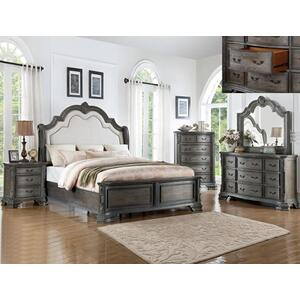 Crown Mark B1120 Sheffield Antique Grey King Bedroom