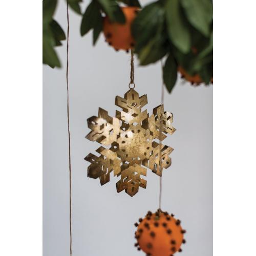 """4"""" Metal Snowflake Ornament"""