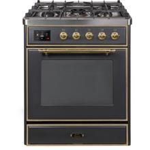 30 Inch Matte Graphite Dual Fuel Natural Gas Freestanding Range