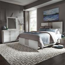 King California Panel Bed, Dresser & Mirror