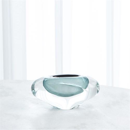 Abstract Bean Vase-Azure-Lg