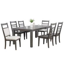 Product Image - Dining Set w/Upholstered End Chairs - Shades of Gray (7 Piece)