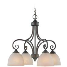 25324-OLB - 4 Light Chandelier