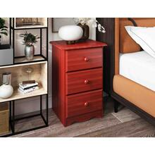See Details - 5522 - 100% Solid Wood 3-Drawer Night Stand, Mahogany