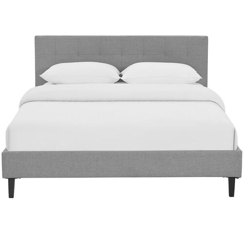 Modway - Linnea Queen Fabric Bed in Light Gray