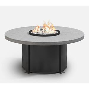 """54"""" Round Chat Fire Table Ht: 24.5"""" Valero Aluminum Base (Indicate Top, Frame, & Side Panel Color)"""