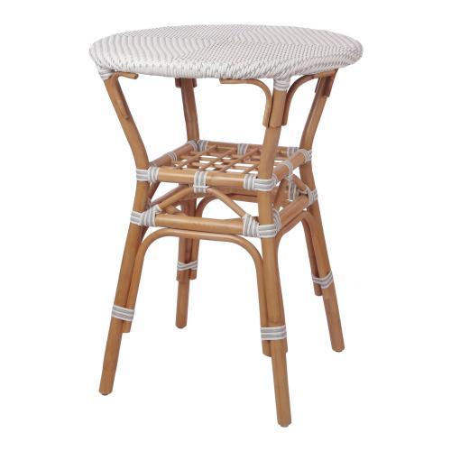 Orleans Paris Bistro High Table, White/ Gray