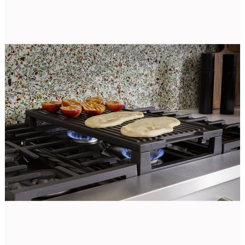 """Cafe - Café™ 48"""" Commercial-Style Gas Rangetop with 6 Burners and Integrated Griddle (Natural Gas)"""
