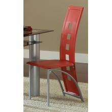 See Details - Astro Metal Dinette Chair - Red