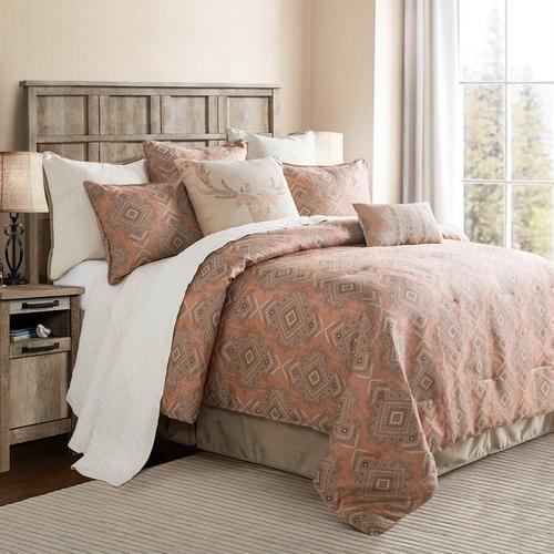 Sedona Comforter Set, Pale Sienna - Super King