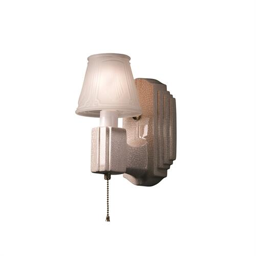 Deco Rectangle w/ Clip-On Glass Shade