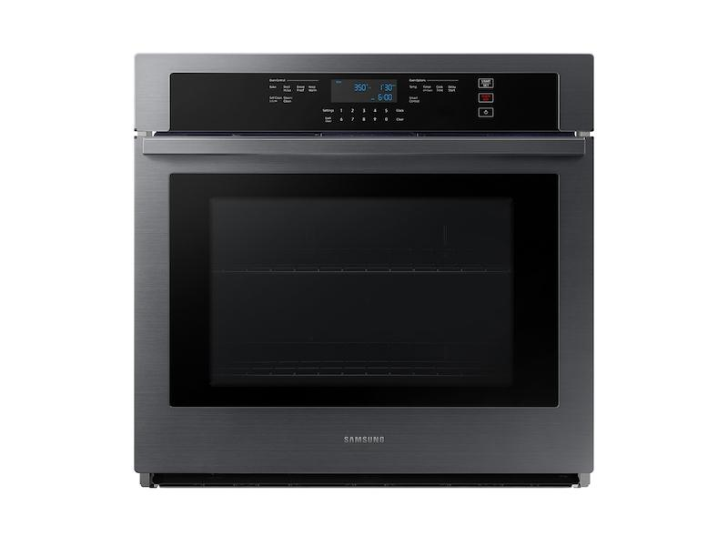 """Samsung30"""" Smart Single Wall Oven In Black Stainless Steel"""