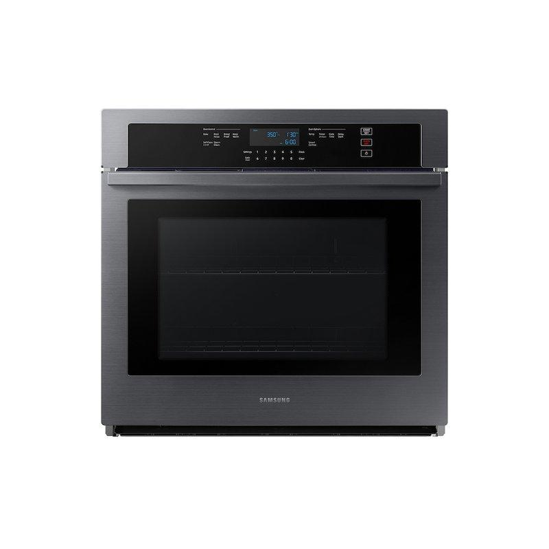 """30"""" Smart Single Wall Oven in Black Stainless Steel"""