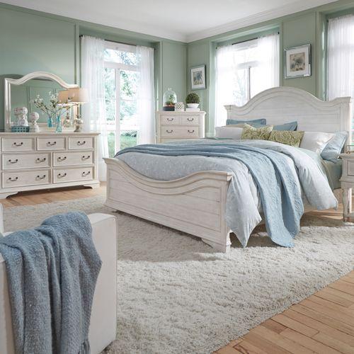 Gallery - King Panel Bed, Dresser & Mirror, Chest