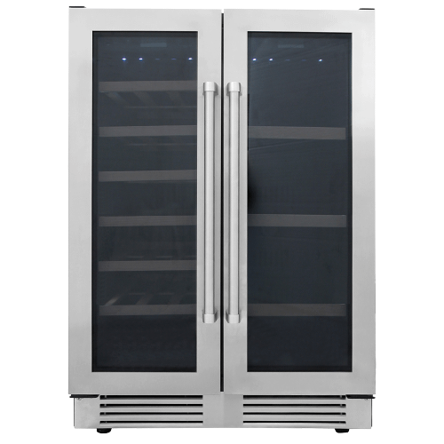 Thor Kitchen - 24 Inch French Door Wine and Beverage Center, 21 Wine Bottle Capacity and 95 Can Capacity
