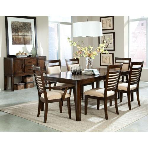 """Avion Dining Table with 18"""" Leaf, Cherry Brown"""