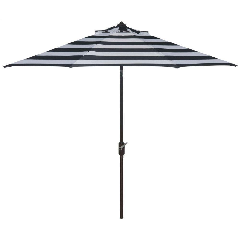 Iris Fashion Line 9ft Umbrella - Black / White