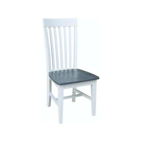 Tall Mission Chair in Heather Gray & White