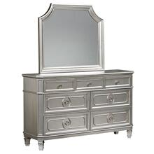 See Details - Windsor Silver Dresser with Mirror, Silver