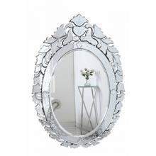 Venetian 32.75 in. Transitional Mirror in Clear
