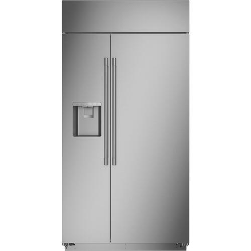 """Gallery - Monogram 42"""" Smart Built-In Side-by-Side Refrigerator with Dispenser"""