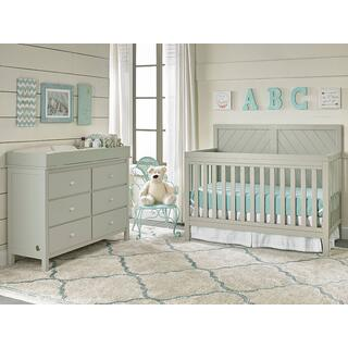 Fisher-Price Buckland Convertible Crib, Misty Grey