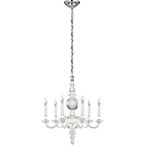 Visual Comfort CHC1155CG/PN E. F. Chapman George Ii 6 Light 22 inch Polished Nickel Chandelier Ceiling Light in Crystal, Polished Silver