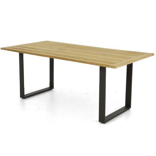 "CONDOR 75"" Rectangular Teak Top Dining Table w/ umbrella hole"