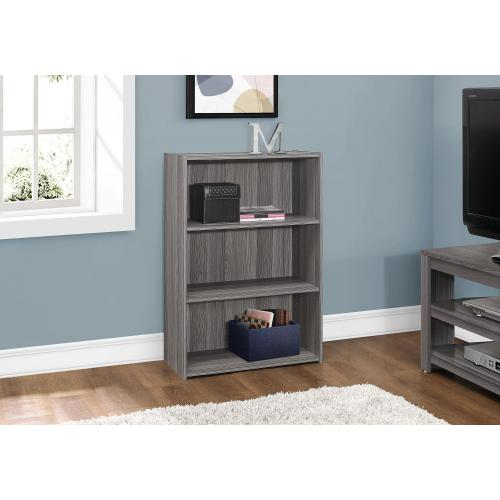 """Gallery - BOOKCASE - 36""""H / GREY WITH 3 SHELVES"""