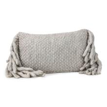 View Product - Afrino Wool Grey Pillow