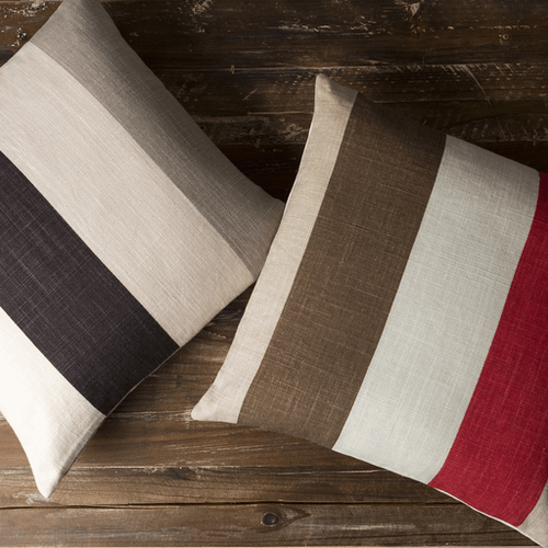 """Simple Stripe JS-012 18"""" x 18"""" Pillow Shell with Polyester Insert"""