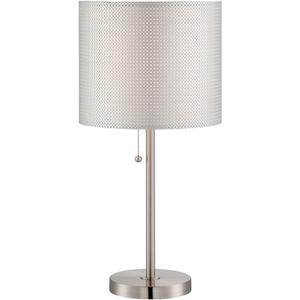 Table Lamp, Ps/silver Paper Shade, E27 Cfl 23w