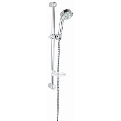 """Relexa Rustic 24"""" Shower Slide Bar Kit - 5 Sprays, 2.5 Gpm"""
