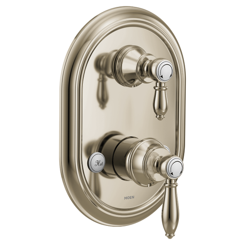 Weymouth polished nickel m-core 3-series with integrated transfer valve trim