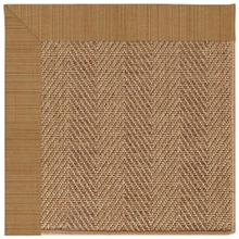 "Islamorada-Herringbone Dupione Caramel - Rectangle - 24"" x 36"""
